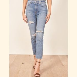 Reformation Julia High Waist Cigarette Jeans 30